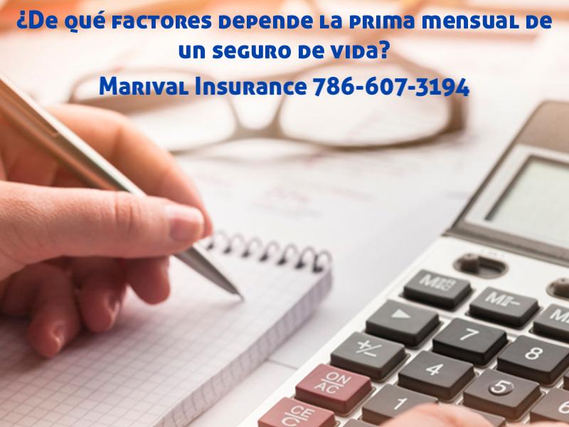 ¿De qué factores depende la prima mensual de un seguro de vida?