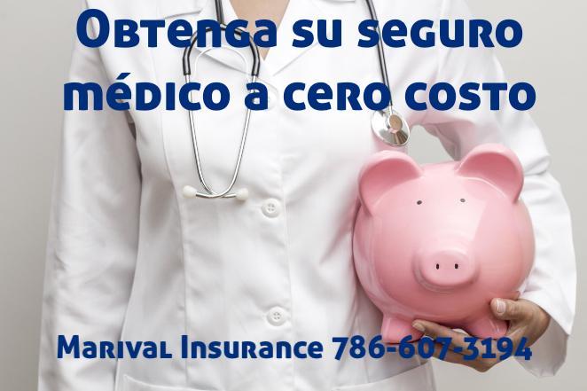 Obtenga su seguro médico a cero costo